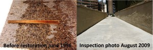 concrete repair product documented for over 14 years