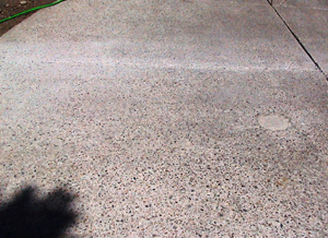This driveway is badly damaged and in need of Fusion-Crete concrete repair product